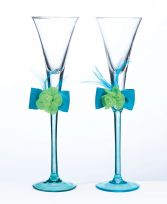 Blue And Green Toasting Glasses